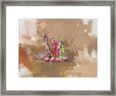 002 Sindh  Framed Print