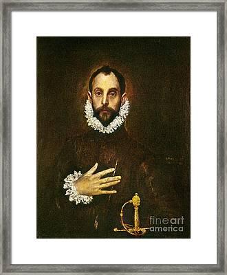 El Greco: Gentleman Framed Print by Granger