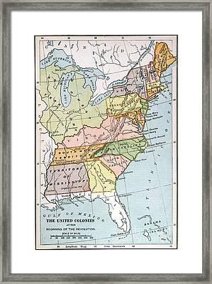 United States Map, C1791 Framed Print
