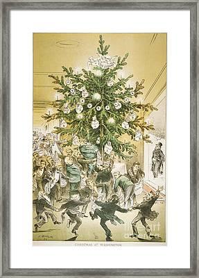 Treasury Cartoon, 1883 Framed Print by Granger