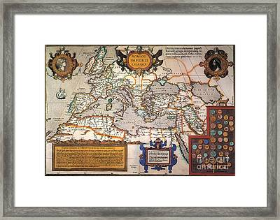 Map Of The Roman Empire Framed Print