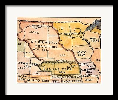 Kansas Nebraska Act Framed Prints