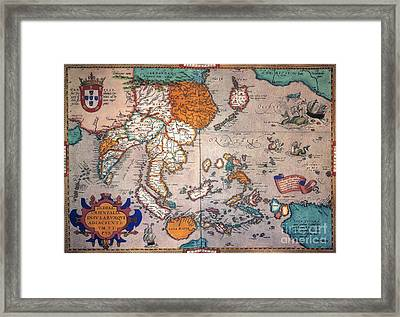 Pacific Ocean/asia, 1595 Framed Print