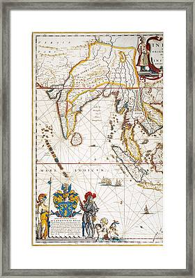 South Asia Map, 1662 Framed Print by Granger