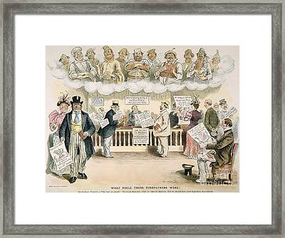 Foolish Forefathers, 1894 Framed Print by Granger