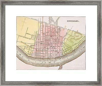 Cincinnati, Ohio, 1837 Framed Print by Granger