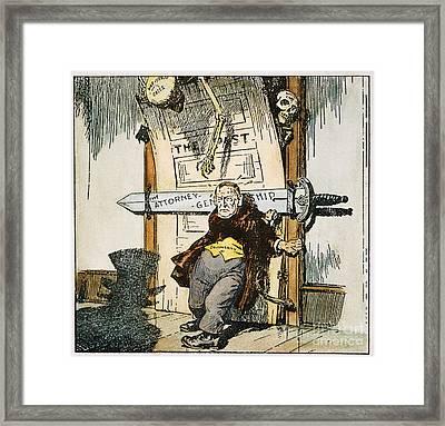 Skeletons Of Malfeasance Framed Print by Granger