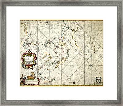 Map: East Indies, 1670 Framed Print by Granger