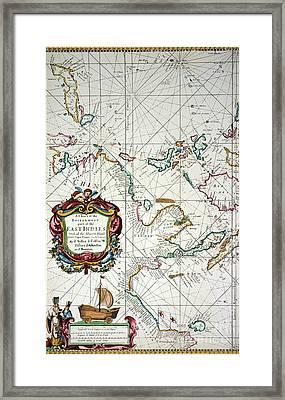 East Indies Map, 1670 Framed Print by Granger