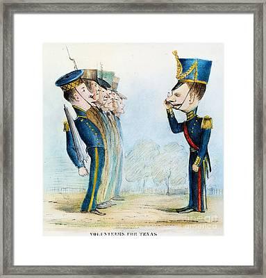 Cartoon: Mexican War, 1846 Framed Print by Granger