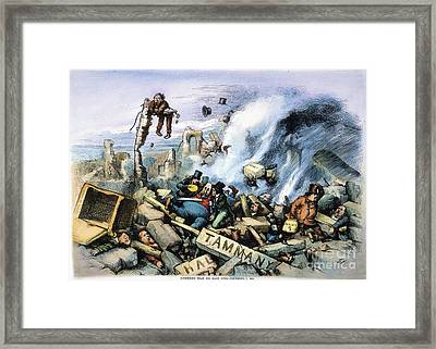 Nast: Tweed Ring Downfall Framed Print by Granger
