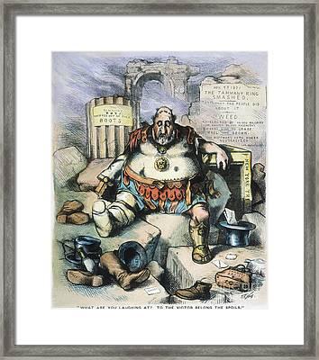 Nast: Tweed's Downfall Framed Print by Granger