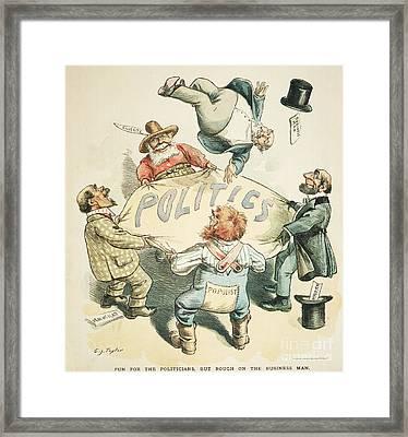 U.s. Cartoon: Businessman Framed Print by Granger