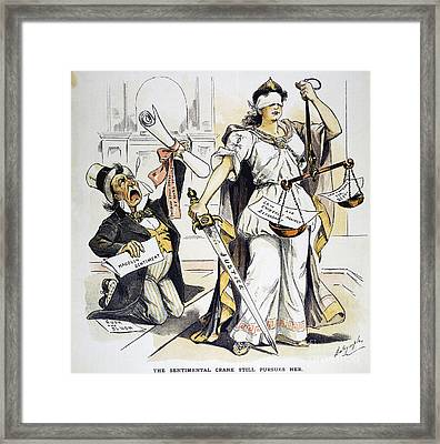 Justice Cartoon Framed Print