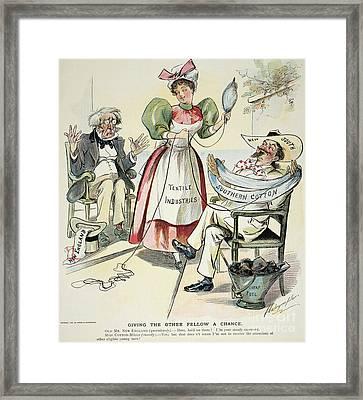 New South Cartoon, 1895 Framed Print by Granger