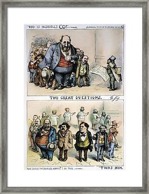 Nast: Tweed Corruption Framed Print by Granger