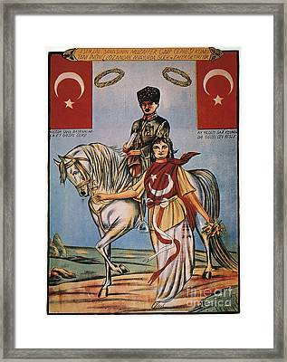 Republic Of Turkey: Poster Framed Print by Granger