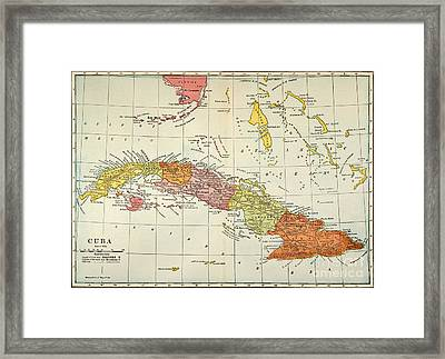 Map: Cuba, 1900 Framed Print by Granger