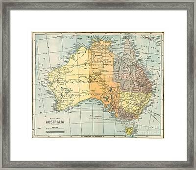 Map: Australia, C1890 Framed Print by Granger