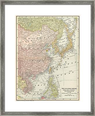 Map: East Asia, 1907 Framed Print by Granger