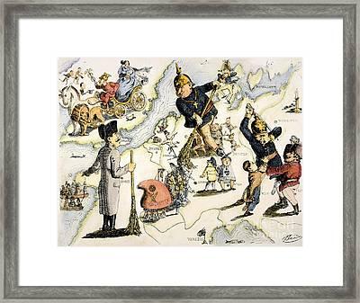 Europe: 1848 Uprisings Framed Print by Granger