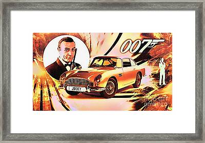 007 And Classic Astin Martin Framed Print by Ian Gledhill