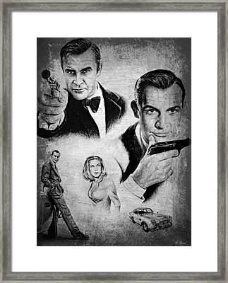007 Connery Framed Print