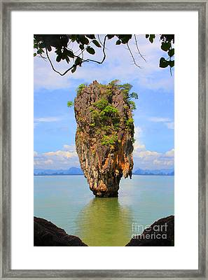 007 Island Framed Print by Mark Ashkenazi
