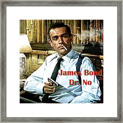 007, James Bond, Sean Connery, Dr No Framed Print
