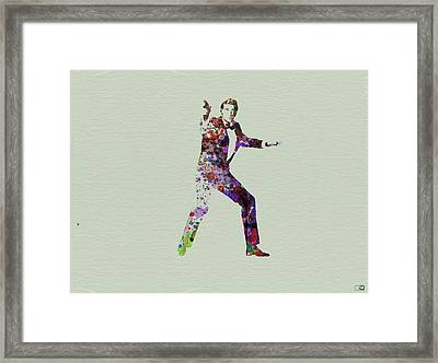 007 Watercolor Framed Print by Naxart Studio