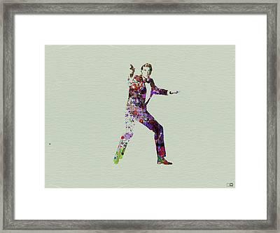 007 Watercolor Framed Print by Naxart Studio