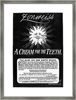 Fonweiss Toothpaste, 1887 Framed Print by Granger
