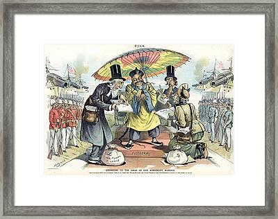 Missionary Cartoon, 1895 Framed Print by Granger
