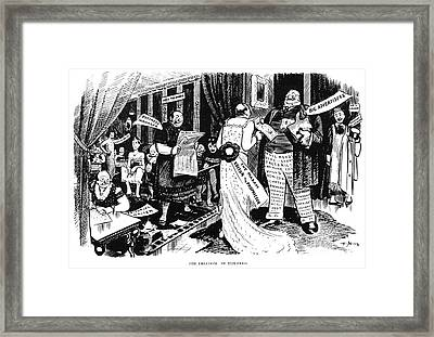 Press Cartoon, 1912 Framed Print
