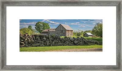 #0079 - Robert's Barn, New Hampshire Framed Print
