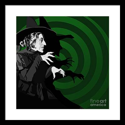 Witch Digital Art Framed Prints