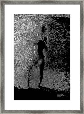 011 Series Behind The Curtain  Framed Print