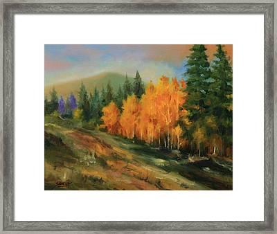 011016-1114  Autumn Aspens Framed Print by Kenneth Shanika