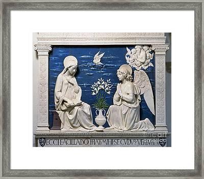 Della Robbia: Annunciation Framed Print by Granger