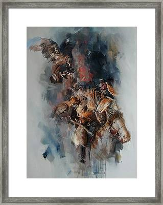 012 Kazakhstan Culture Framed Print by Maryam Mughal