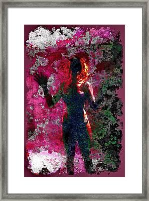 012 Series Behind The Curtain  Framed Print