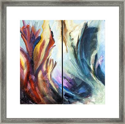 01321 Fire And Waves Framed Print by AnneKarin Glass