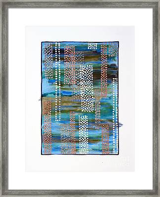 01332 Straight Framed Print by AnneKarin Glass
