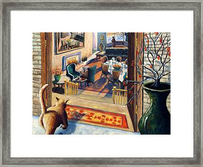 01348 Awaiting Guests Framed Print by AnneKarin Glass