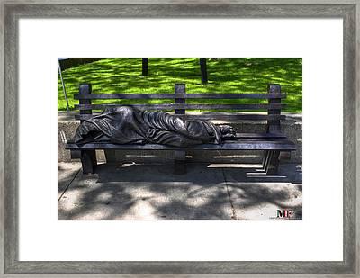 02 Homeless Jesus By Timothy P Schmalz Framed Print