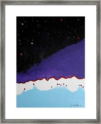 023 Purple Mung Framed Print by James D Waller