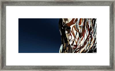 028. Bullet In The Brain Pan Squish Framed Print by Tam Hazlewood