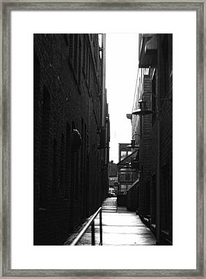 Alleyway Framed Print by Marilyn Wilson