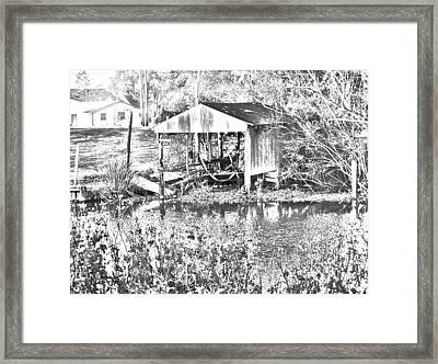03192015 Boat Shed Lafourch Parish Framed Print
