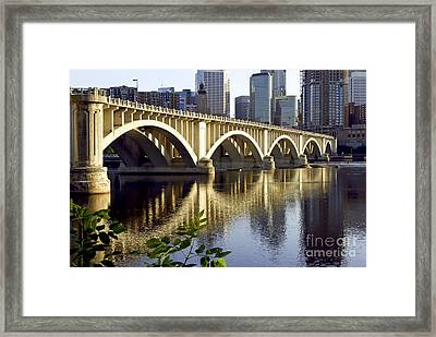 0333 3rd Avenue Bridge Minneapolis Framed Print